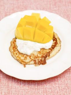 One-cup pancakes, tropical yoghurt and mango Jamie Oliver Jamie's Ministry of Food