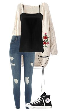 """""""#169"""" by mintgreenb on Polyvore featuring River Island, Racil and Converse"""