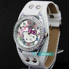 New Hello Kitty Watches Fashion Ladies Quart Watch Kids Cartoon Wristwatches Analog King Girl Brand Quartz women