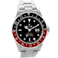 Rolex GMT Master II Black Red Coke Bezel Automatic Mens Watch 16710