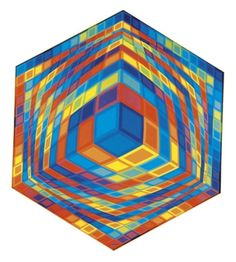 Hat-Kor By Victor Vasarely ,1973