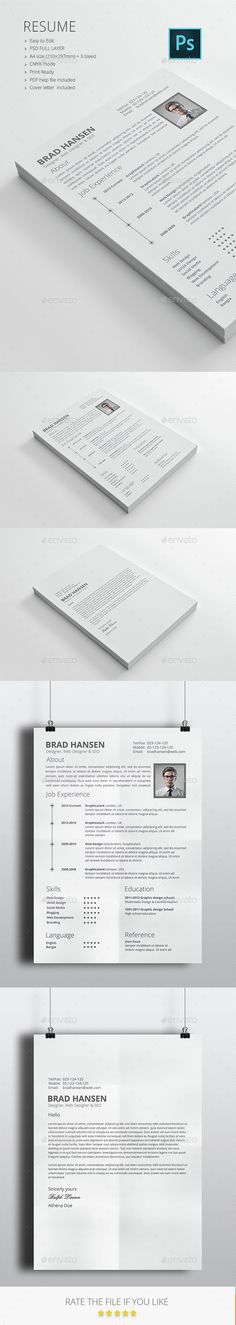 Resume - Resumes Stationery Download here https\/\/graphicriver - resume download