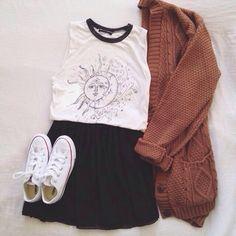 shirt moon sun sun and moon solar oversized t-shirt tank top skirt high waisted cardigan knitted cardigan cute fashion teen hipster grunge soft geu sweater