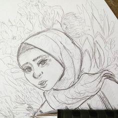 Sketching ✏🌌❄ #sketch #art #illustration #oc #wella_lolo #anime #hijab #animation #instaart #model #disney #cartoon #egypt #한국 #스케치 #와 #예쁜 #كلنا_رسامين #الرسامون_العرب #سكتش #خربشات #رسمتى #حجاب