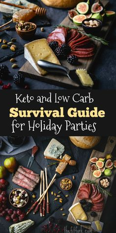 Keto and Low Carb Survival Guide for Holiday Parties - get tips and strategies to cut carbs while still enjoying yummy foods at Christmas, New Year's Even and other special celebrations where the temptation to overindulge is high. Keto Holiday, Holiday Parties, Holiday Recipes, Holiday Treats, Low Carb Lunch, Low Carb Keto, Low Carb Recipes, Survival Food, Survival Guide