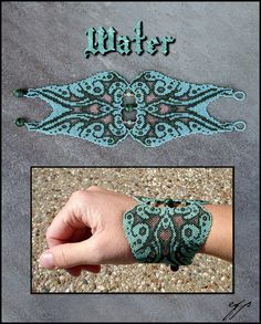 "8_Water_by_Ellygator ""Ellygator is very talented female artist. She makes many different types of art but i like more of all her uniqe bracelet with wonderful magic patterns!"""