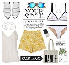 """""""Pack and go"""" by deckerandlee ❤ liked on Polyvore featuring Spektre, Frame Denim, ALPHABET BAGS, Alexander Wang, Dot & Bo, Ryder, Pussycat, Forever 21, Lane Bryant and Packandgo"""