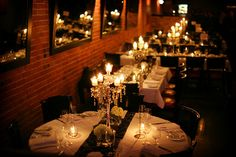 Our Crystal Draped Candelabras at the Brix Restaurant
