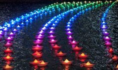 kağıttan ışıklı gemiler