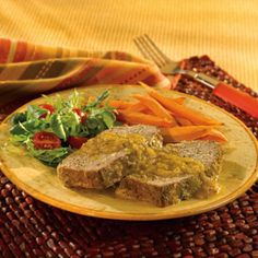 This kicked-up version of meatloaf is made with salsa verde and crushed tortilla chips for fabulously delicious results.