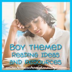 Boy Themed Reading Ideas and Resources | Homeschool Giveaways