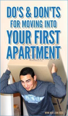 Do's and Don'ts for Moving into Your First Apartment , Moving into your first apartment can be thrilling and frightening at the same time. Packing may seem like a daunting task, but with some simple moving tips, your relocation will be worry-free. Apartment Needs, 1st Apartment, Apartment Goals, Apartment Living, Apartment Design, Moving Into An Apartment, Studio Apartment, Apartment Hacks, Dream Apartment