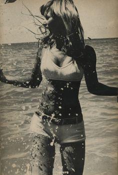 Frolicking in the surf Vogue UK, 1970