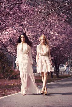 Diana Enciu and Alina Tanasa wears  Maria Lucia Hohan.