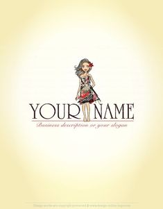 Exclusive Design: Girl Fashion Logo   Compatible FREE Business Card
