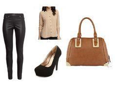 Leather pants?  Yes!  Fall outfit for a night out