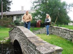 """The is the real bridge that Robert Lytle wrote about in his book, """"Mr. Blair's Labyrinth"""" with Mr. Lytle and my daughter enjoying the view."""