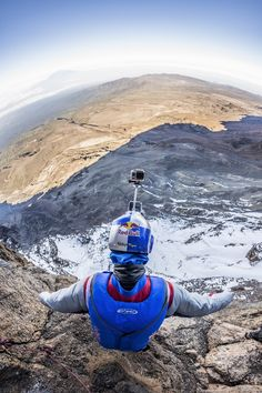 Russian BASE jumper was the first to jump from the roof of Africa - Kilimanjaro volcano - while wingsuiting. Kilimanjaro, Africa, Base, Afro