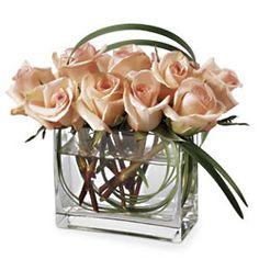 Modernas rosas champagne - Exoticas Flores :: Tu Floreria en Linea.