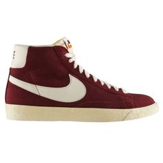NIKE Blazer Mid Premium Vintage Suede Trainer - Team Red / Sail. The Nike Blazer Mid Premium Vintage Suede Hi-Top Trainer is a must have for the sports fashion conscious. Made famous in the 70s, they have been remastered with quality materials and a suede upper to offer a retro-style shoes.