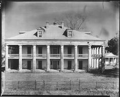 Uncle Sam Plantation, circa 1935. It was located near Convent, LA built 1843.
