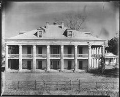 Uncle Sam Plantation, circa 1935. It was located near Convent, LA built 1843.