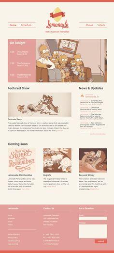Unique Web Design, Lemonade @lelique #WebDesign #Design (http://www.pinterest.com/aldenchong/)