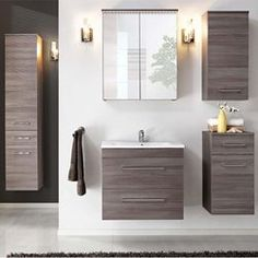 Meuble de salle de bain madrid blanc brillant 100 cm - Meuble colonne salle de bain leroy merlin ...
