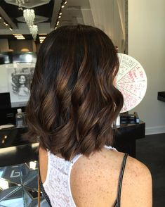Beautiful dark shiny hair with a chocolate color throughout #PriveSalonandStyleBar #LorealProfessional #BestofMainline #HairbyCassidyT #PhillyBestHair #BTC #Balayage #Hair