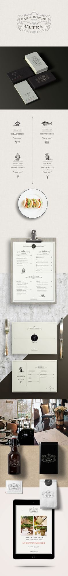 Ultra Bar & Bistro. Ultra classic. #branding #design (View more at www.aldenchong.com)