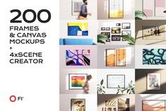 Ad: 200 Frame Canvas Mockup Bundle by FoundImages on Visit our other shop on CreativeMarket With this bundle you have get 4 x Scene Creator and 200 premade scenes. We've invested a lot of time Scene Creator, The Creator, Mockup Creator, Blur Effect, Mockup Templates, Print Templates, Design Templates, Apps, Photorealism
