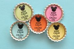 30 Keep Calm and Cruise On Disney Cruise Inspired Bottle Cap Magnet, great for fish extender gifts. $50.00, via Etsy.