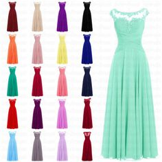 STOCK New Chiffon Formal Gown Prom Party Ball Bridesmaid Evening Dress Size 6-20