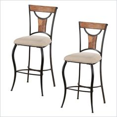 ($209) Hillsdale Pacifico 30'' Non-Swivel Bar Stools (Set of 2) - 4137-831