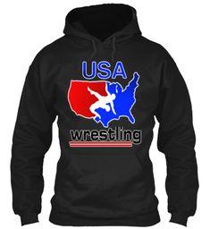 Wrestling Number One USA American Flag Hoodie