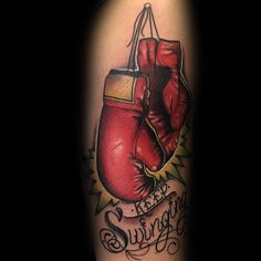 70 Boxing Gloves Tattoo Designs For Men - Swift Ink Ideas Boxing Gloves Tattoo, Boxing Tattoos, Mom Tattoos, I Tattoo, Tattoos For Guys, Cancer Survivor Tattoo, Breast Cancer Tattoos, Boxe Fight, Tattoo Apprenticeship