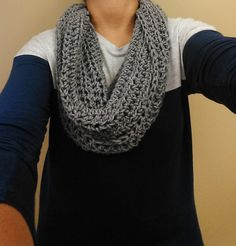 Easy infinity scarf -plus pattern