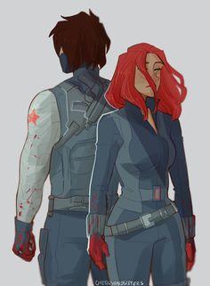 meus assassinos favoritos - Natasha and Bucky
