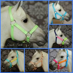 Model Horse Halters - Breyer Horse Nylon Halters - Model Horse Tack