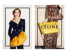 Daria Werbowy Lounges for Celines Fall 2014 Ads
