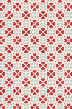 geometric floral (Caroline Bourles--mytextiledesign):