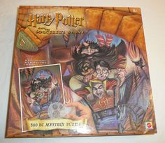 NEW SEALED - Harry Potter Sorcerer's Stone 300 Piece Mystery Jigsaw Puzzle vtg #Mattel