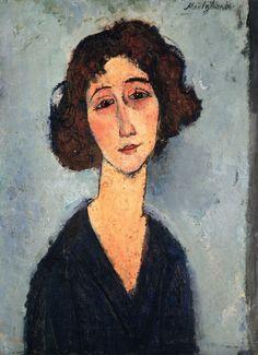 Amedeo Modigliani  (1884-1920), Young Woman (also known as Totote de la Gaite), 1917