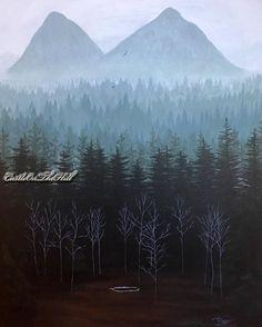 #TwinPeaks #landscape  #GlastonberryGrove  print by #CastleOnTheHill