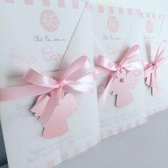 Convites Personalizados Anjinho Rosa