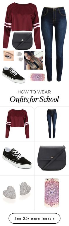 """Back to School"" by clouded4ever on Polyvore featuring Kate Spade, Vans and Adriana Orsini"