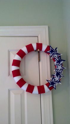"""16"""" Felt 4th of July Wreath (Independence Day, Flag Day, Memorial Day too)"""