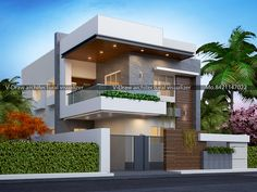 Flat Roof House Designs, Modern Small House Design, Modern Bungalow Exterior, Modern House Facades, 3 Storey House Design, Bungalow House Design, House Outside Design, House Front Design, West Facing House