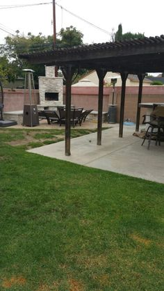 #pinmydreambackyard my covered patio area that's falling apart and is not really covered...