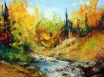 Petite rivière St-Jean, Saguenay par Michel Pleau   #Art #landscape #paysage #artwork #artist #painting #peinture #quebec #artists Michel, Land Scape, Painting, Artwork, Oil On Canvas, How To Paint, Landscape, Artist, Paint